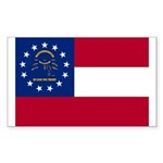 Georgia State Flag Sticker (Rectangle 50 pk)