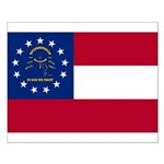 Georgia State Flag Small Poster