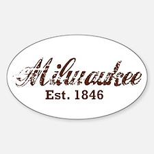 Milwaukee, est. 1846 t-shirts Decal