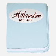Milwaukee, est. 1846 t-shirts baby blanket