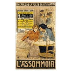 Poster advertising LAssommoir by M.M.W. Busnach Poster