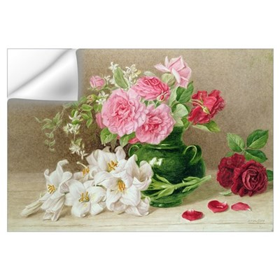 Roses and Lilies (watercolour) Wall Decal