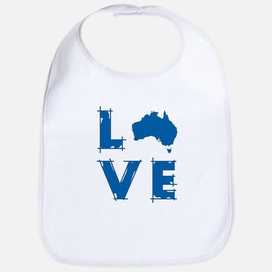 Love Australia Bib