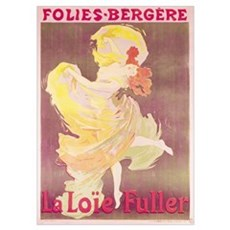 Poster advertising Loie Fuller (1862 1928) at the  Poster