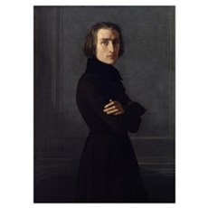 Portrait of Franz Liszt (1811 86) 1839 (oil on can Poster
