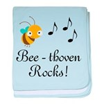 Beethoven Bee Music Composer Quote Blanket
