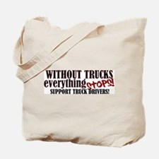 Trucker Support Tote Bag