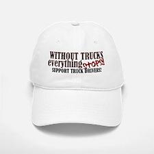Trucker Support Baseball Baseball Cap
