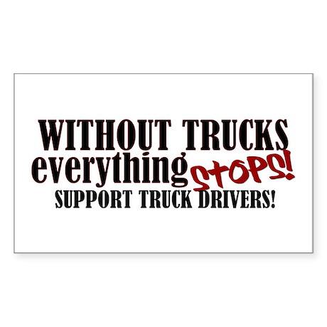 Trucker Support Sticker (Rectangle)