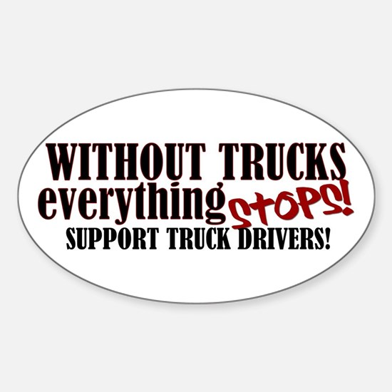 Trucker Support Sticker (Oval)