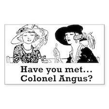 Colonel Angus Sticker (Rectangle)