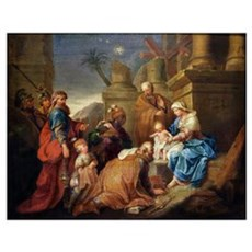 Adoration of the Magi (oil on canvas) Poster
