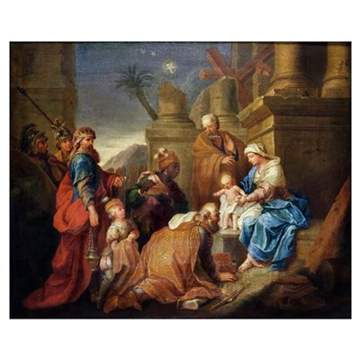 Adoration of the Magi (oil on canvas) Canvas Art