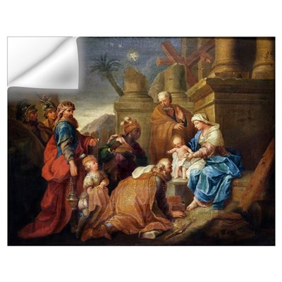 Adoration of the Magi (oil on canvas) Wall Decal