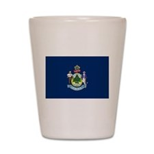 Maine State Flag Shot Glass