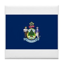 Maine State Flag Tile Coaster