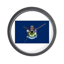 Maine State Flag Wall Clock