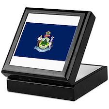 Maine State Flag Keepsake Box
