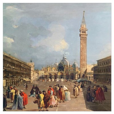 Piazza San Marco, Venice, c.1760 (oil on canvas) ( Poster