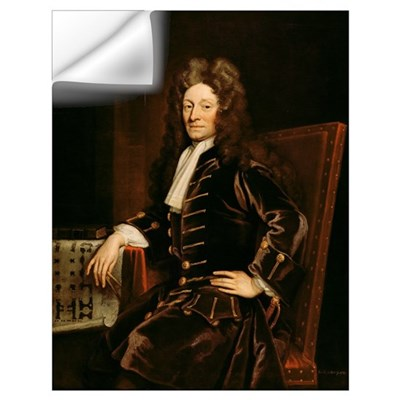 Portrait of Sir Christopher Wren (1632-1723) 1711 Wall Decal