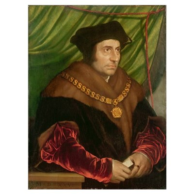 Portrait of Sir Thomas More (1478-1535) (oil on pa Canvas Art