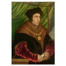 Portrait of Sir Thomas More (1478-1535) (oil on pa