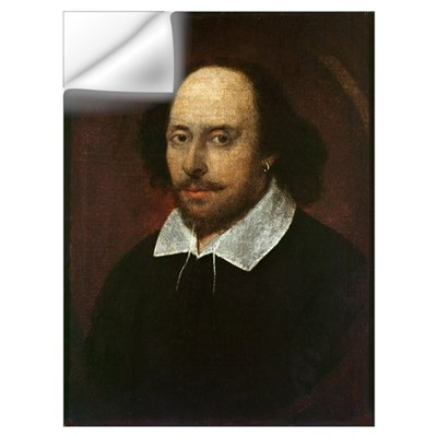 Portrait of William Shakespeare (1564-1616) c.1610 Wall Decal