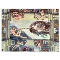 Sistine Chapel Ceiling: Creation of Adam, 1510 (fr Poster