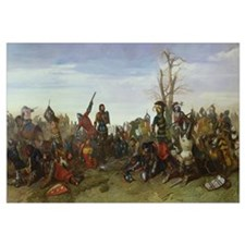 The Battle of Trente in 1350, 1857 (oil on canvas)