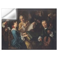 The Concert, c.1755 (oil on canvas) Wall Decal