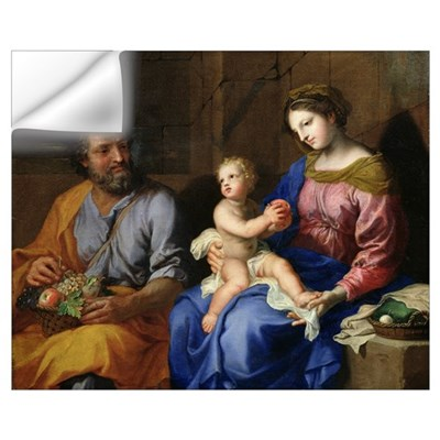 The Holy Family (oil on canvas) Wall Decal