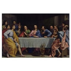 The Last Supper, 1648 (oil on canvas) Poster