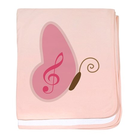 Cute Music Butterfly Clef Sign baby blanket