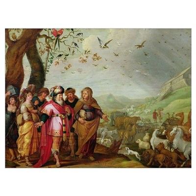 Noah's Ark (oil on canvas) Poster