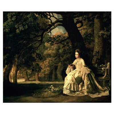 Lady reading in a Park, c.1768-70 Poster