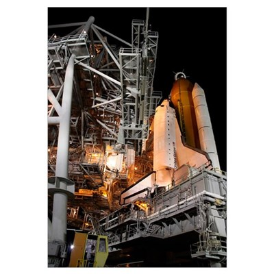 Space Shuttle Endeavour on the launch pad at Kenne Canvas Art