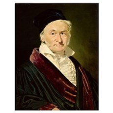 Portrait of Carl Friedrich Gauss, 1840 (oil on can Poster