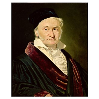 Portrait of Carl Friedrich Gauss, 1840 (oil on can Canvas Art