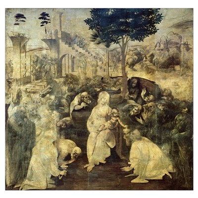The Adoration of the Magi, 1481-2 (oil on panel) Poster