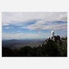 Kitt Peak Observatory domes and surrounding area