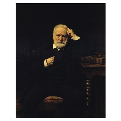 Portrait of Victor Hugo (1802-85) 1879 (oil on can Poster