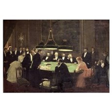 The Gaming Room at the Casino, 1889 (oil on canvas Poster
