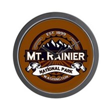 Mt. Rainier Vibrant Wall Clock