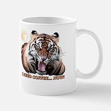 Tiger needs caffeine Mugs