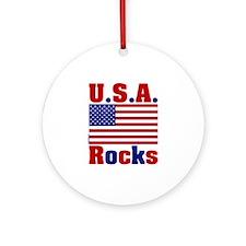 USA Rocks Ornament (Round)