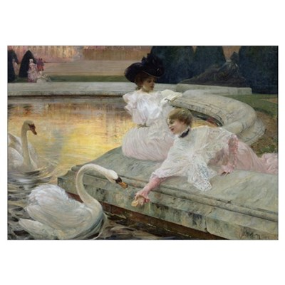 The Swans, 1900 (oil on canvas) Poster