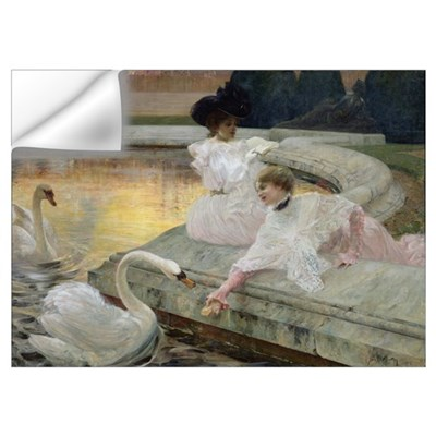 The Swans, 1900 (oil on canvas) Wall Decal