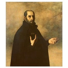 St.Ignatius Loyola (oil on canvas) Canvas Art