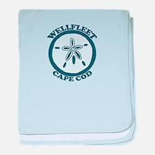 "Wellfleet MA ""Sand Dollar"" Design. baby blanket"