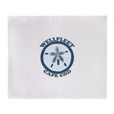 "Wellfleet MA ""Sand Dollar"" Design. Throw Blanket"